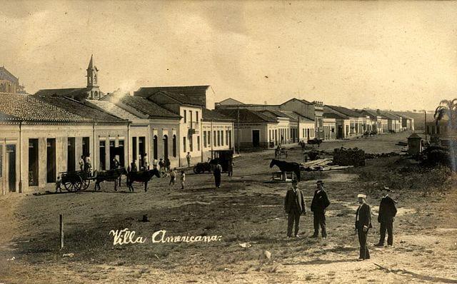 Villa Americana em 1906.