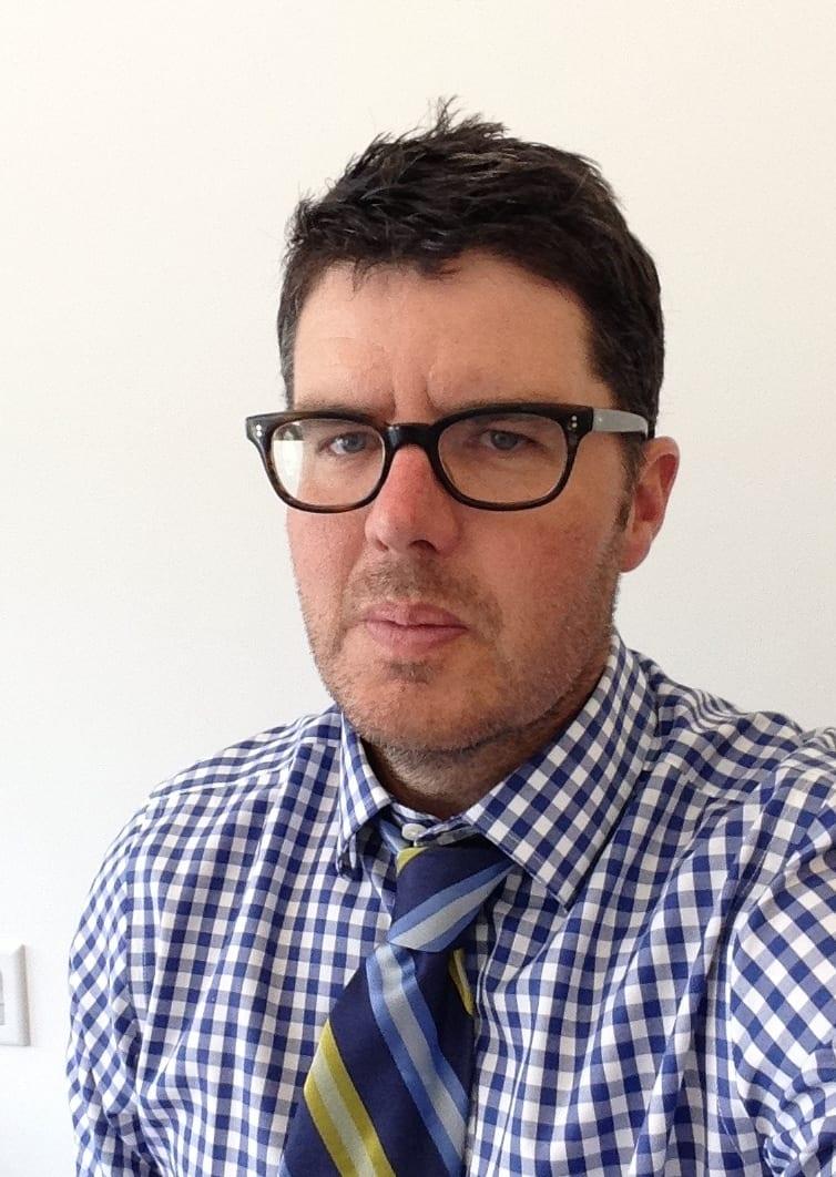 Dean Rader with glasses