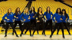 Sabrina Ellison pictured alongside Warriors Dance Team