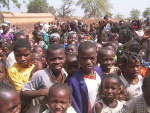 Photo of numerous children from Yanfolila, Mali.