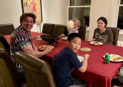 Holiday party kids table