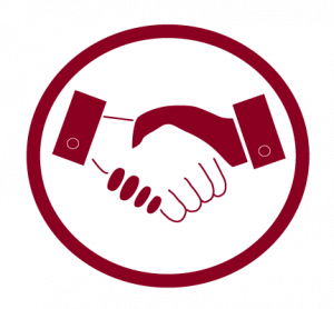 Image icon with two people shaking hands