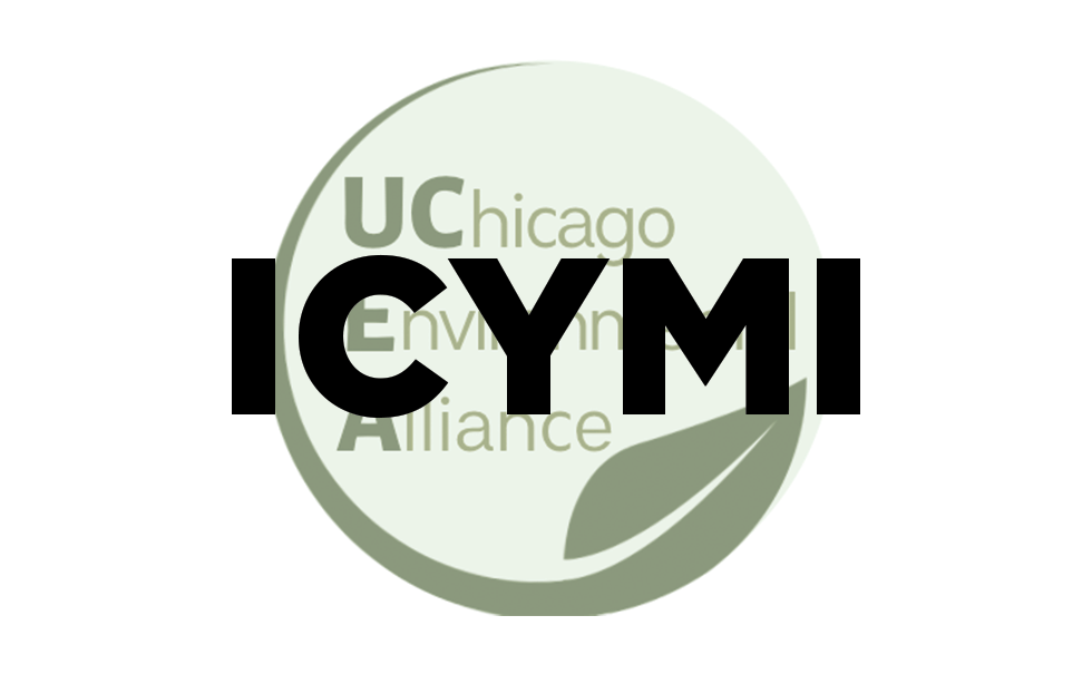 UChicago Environmental Alliance logo with ICMYI over the top (in case you missed it)