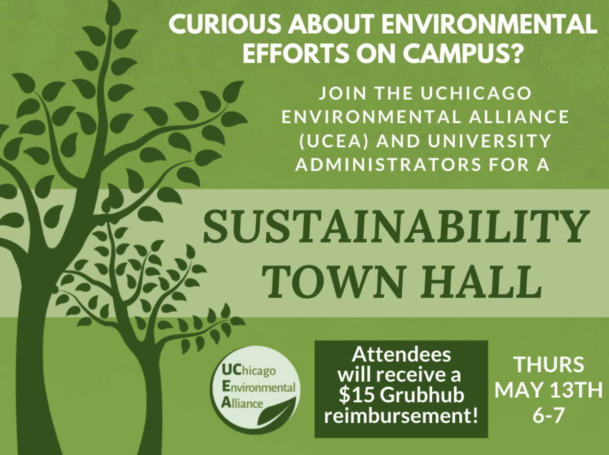 Flyer for sustainability town hall
