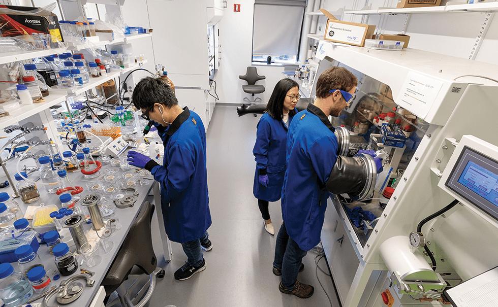 Picture of Professor Chong Liu's lab