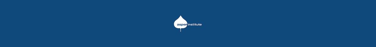 Blue banner with Aspen Institute logo