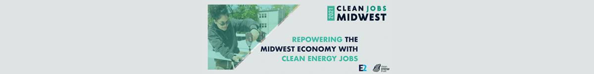 Logo for the Clean Job Midwest report