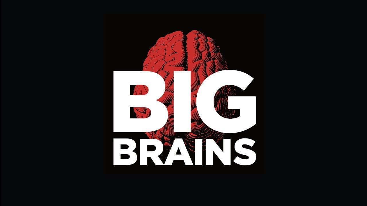 Big Brains podcast logo horizontal
