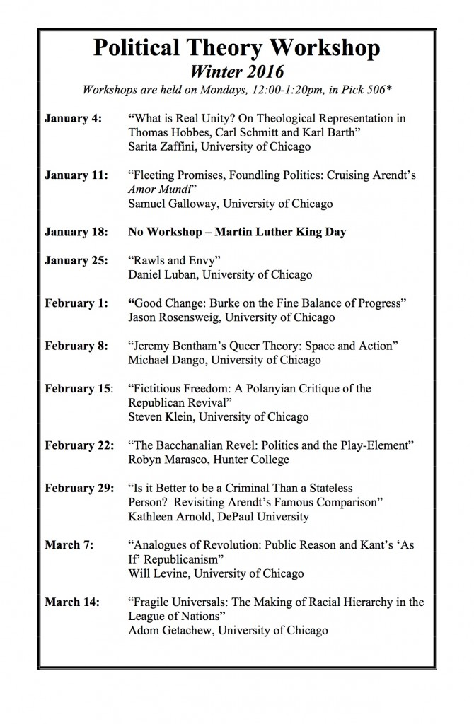 Winter 2015 Schedule-Political Theory Workshop
