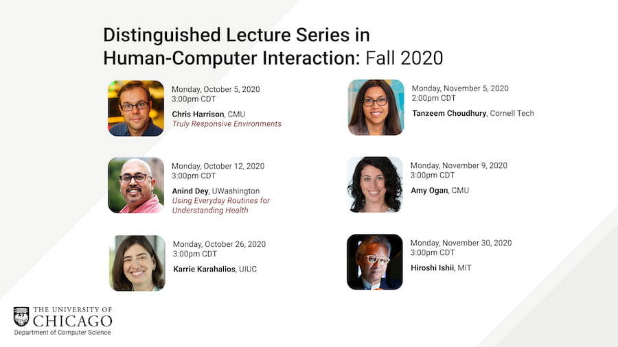 More Great Speakers To Come In Our Distinguished Lecture Series in HCI