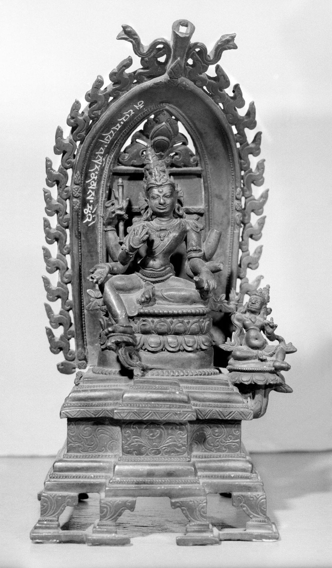 Bronze sculpture of Maitreya Bodhisattva, seated
