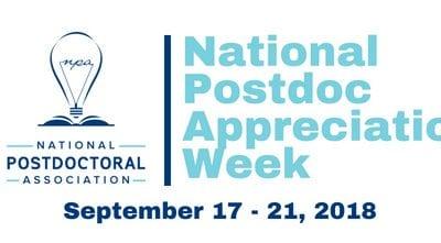 National Postdoc Appreciation Week 2018