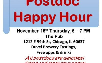Postdoc Social Event: Happy Hour on Thursday, November 15th!