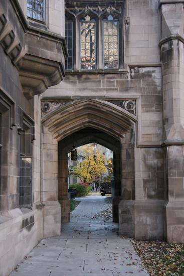 Gothic arch on the main quad