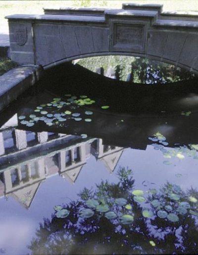 A stone bridge over Botany Pond