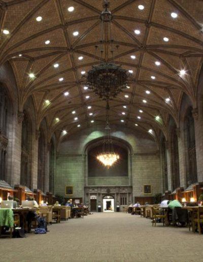 Interior shot of Harper reading room