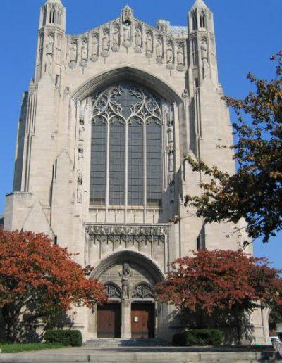 Front view of Rockefeller Chapel