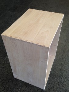 Dovetailed kitchen island by Victoria Wang