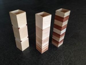 Three splined boxes by Rachel Jackson