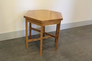 Hexagonal table by Ruben Lesnick