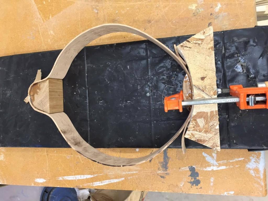 bend frame into shape