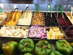 Salad Station in Dining Commons