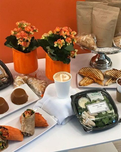 Peach's food offerings display