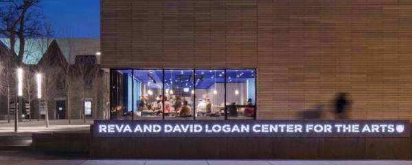 Logan Arts Center Street View at night