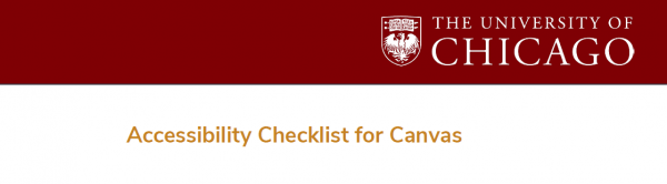 Canvas Accessibility Checklist