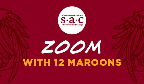 Zoom with 12 Maroons logo with SAC logo
