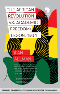 Jean Allman Distinguished Lecture Poster