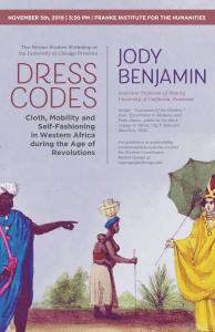 Jody Benjamin Distinguished Lecture Poster