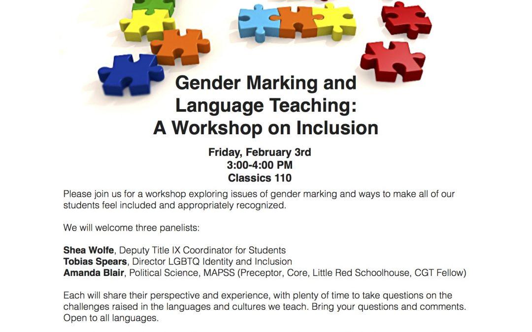 Gender Marking and Language Teaching