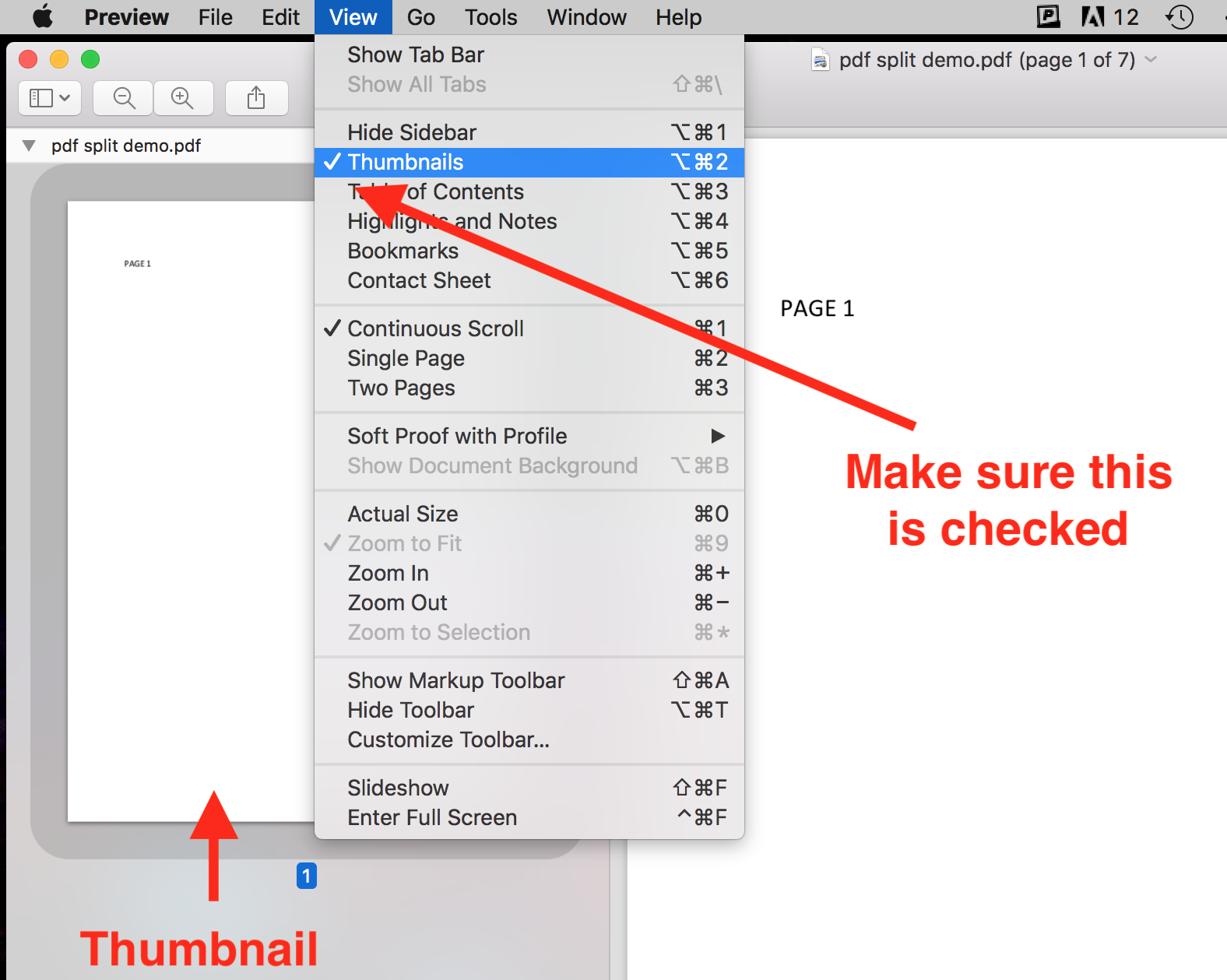 Splitting a PDF using Preview on a Mac | University of