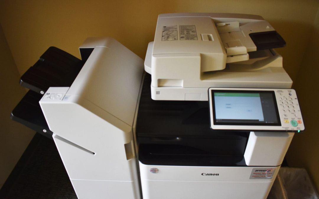 Photo of new printer in CLC