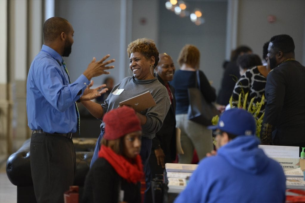 10+ local businesses participated in the hiring fair - photo by Paul Beaty