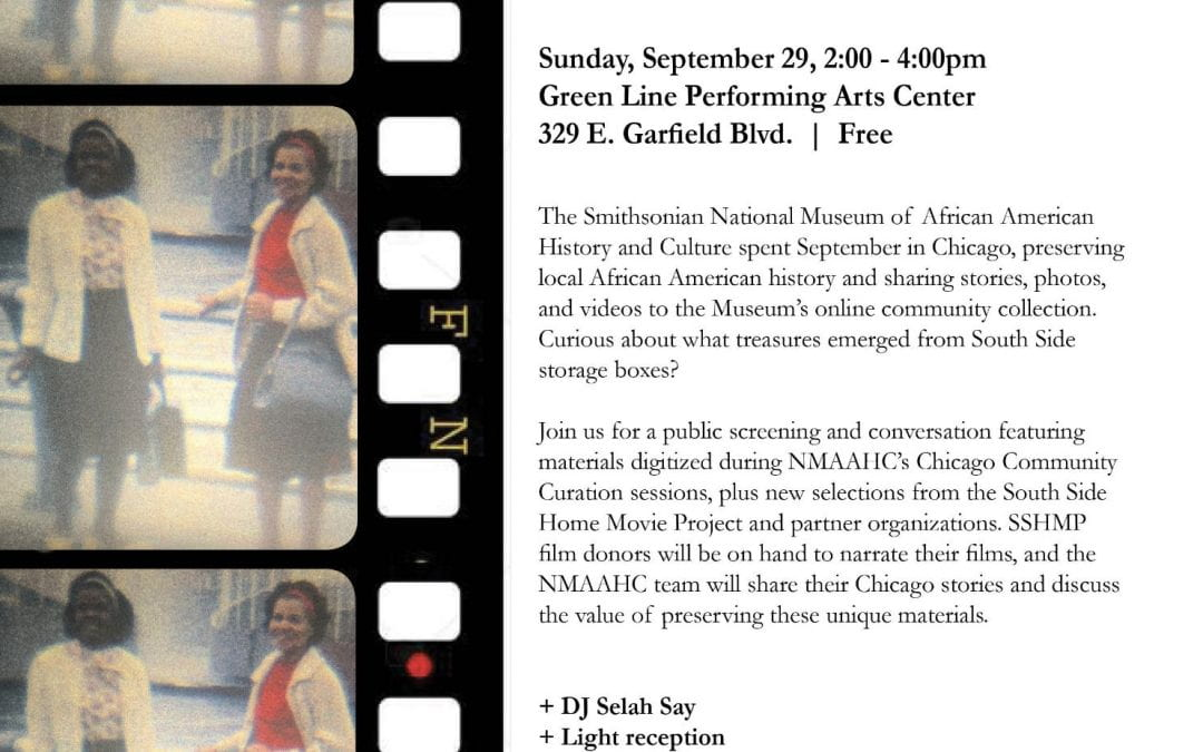 Sep 29: National Museum of African American History and Culture Chicago Showcase with SSHMP