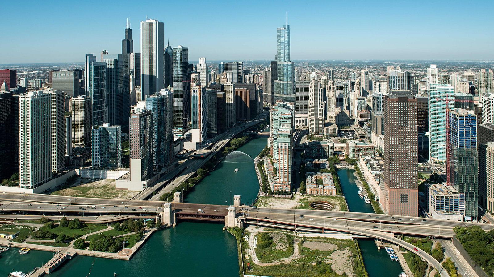 Photograph of Chicago skyline