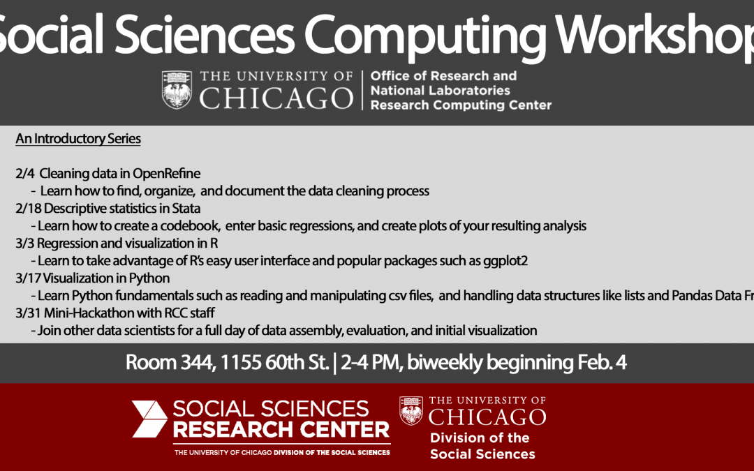 Social Sciences Computing Workshop – Winter 2020