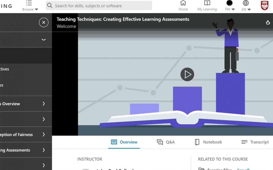 LinkedIn Learning Courses for Instructors and Students