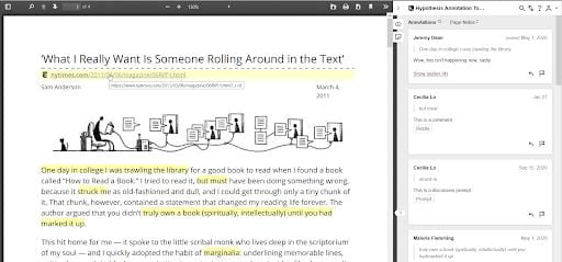 Example Article with Hypothesis Annotations