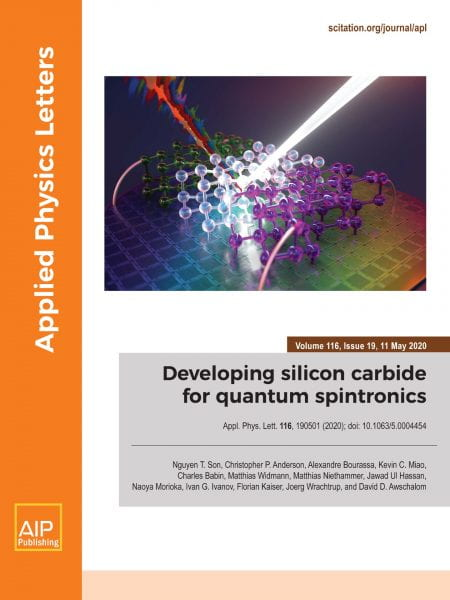 Cover of Applied Physics Letters