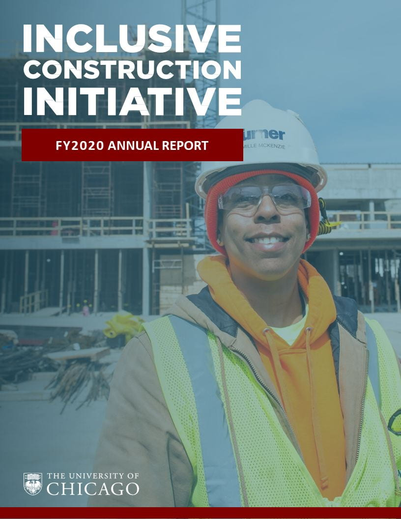 Inclusive Construction Initiative Annual Report Cover