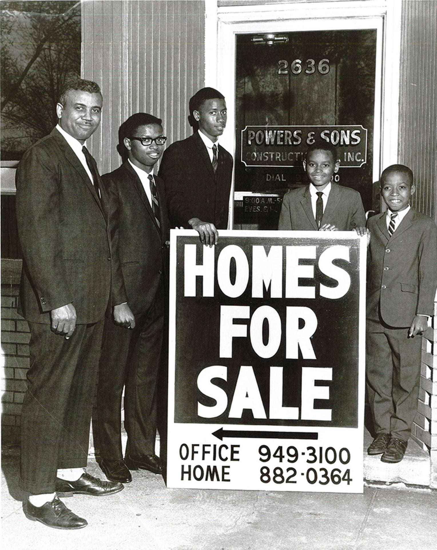 Mamon Powers, Sr., and his sons. (Photo courtesy of Powers & Sons ConstructionCompany.)