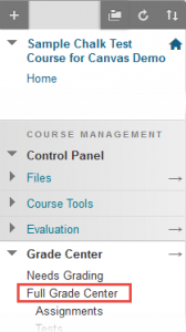 Control Panel > Full Grade Center