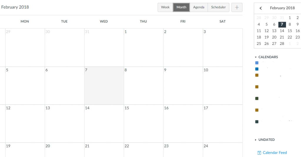 Canvas Calendar