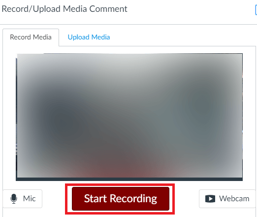 Recording dialog box with Start Recording button indicated