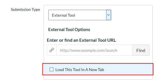 Select the Load This Tool In A New Tab option in External Tool Canvas Assignments.