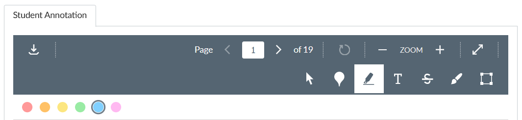 Student Annotation Toolbar
