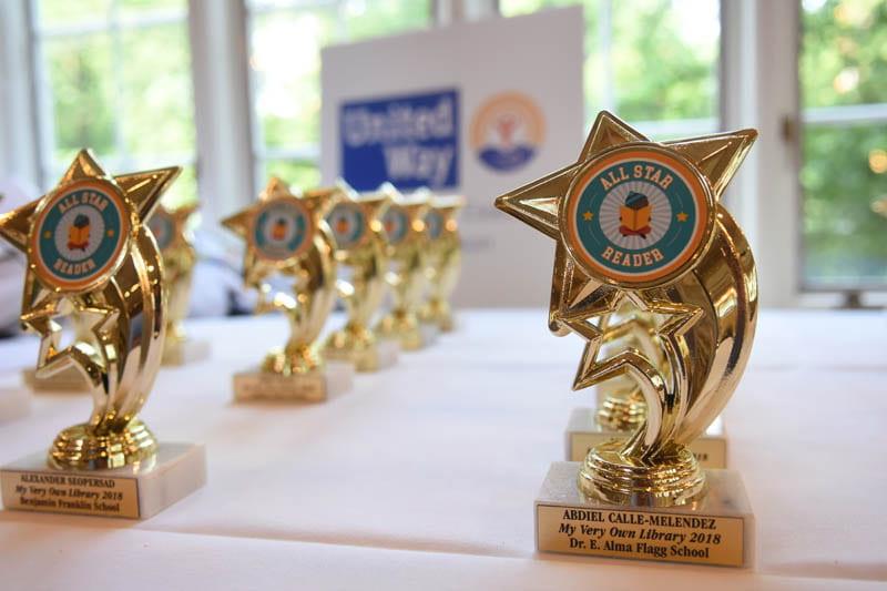 rows of All Star Reader awards